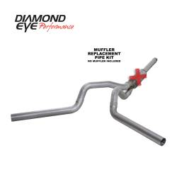 Ford OBS Exhaust Parts - Exhaust Systems - Diamond Eye Performance - Diamond Eye Performance 1994-1997.5 FORD 7.3L POWERSTROKE F250/F350 (ALL CAB AND BED LENGTHS) 4in. ALUMI K4312A-RP
