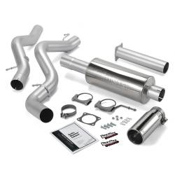 6.6L LLY Exhaust Parts - Exhaust Systems - Banks Power - Banks Power Monster Exhaust System, Single Exit, Chrome Round Tip 48634