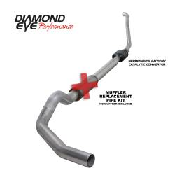 Ford OBS Exhaust Parts - Exhaust Systems - Diamond Eye Performance - Diamond Eye Performance 1994-1997.5 FORD 7.3L POWERSTROKE F250/F350 (ALL CAB AND BED LENGTHS) 5in. ALUMI K5314A-RP