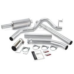 Dodge 5.9L Exhaust - Exhaust Systems - Banks Power - Banks Power Monster Exhaust System, Single Exit, Chrome Round Tip 48635