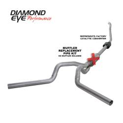 Ford OBS Exhaust Parts - Exhaust Systems - Diamond Eye Performance - Diamond Eye Performance 1994-1997.5 FORD 7.3L POWERSTROKE F250/F350 (ALL CAB AND BED LENGTHS) 4in. ALUMI K4308A-RP