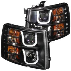 6.6L LMM Lighting - Headlights & Marker Lights - ANZO USA - ANZO USA Projector Headlight Set 111281