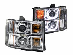 6.6L LMM Lighting - Headlights & Marker Lights - ANZO USA - ANZO USA Projector Headlight Set 111283