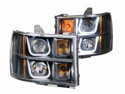 6.6L LMM Lighting - Headlights & Marker Lights - ANZO USA - ANZO USA Projector Headlight Set 111284
