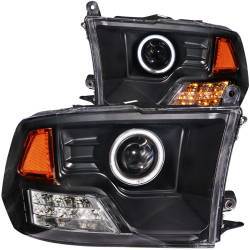 Dodge Ram 6.7L Lighting - Headlights & Marker Lights - ANZO USA - ANZO USA Projector Headlight Set w/Halo 111159