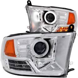 Dodge Ram 6.7L Lighting - Headlights & Marker Lights - ANZO USA - ANZO USA Projector Headlight Set w/Halo 111160