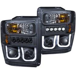 Lighting - Headlights &  Marker Light - ANZO USA - ANZO USA Projector Headlight Set 111305