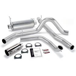 Ford 7.3LExhaust Parts - Exhaust Systems - Banks Power - Banks Power Monster Exhaust System, Single Exit, Chrome Round Tip 48656