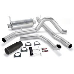 Exhaust - Exhaust Systems - Banks Power - Banks Power Monster Exhaust System, Single Exit, Black Round Tip 48657-B