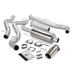 Exhaust - Exhaust Systems - Banks Power - Banks Power Monster Exhaust System, Single Exit, Chrome Tip 48628