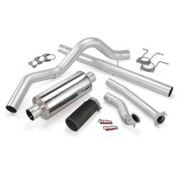 Ford OBS Exhaust Parts - Exhaust Systems - Banks Power - Banks Power Monster Exhaust System, Single Exit, Black Tip 46296-B