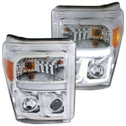 Ford 6.7L Lighting - Headlights & Marker Lights - ANZO USA - ANZO USA Projector Headlight Set 111291