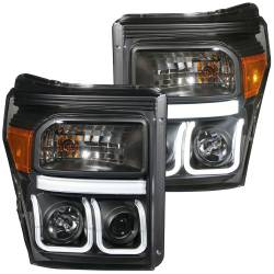 Ford 6.7L Lighting - Headlights & Marker Lights - ANZO USA - ANZO USA Projector Headlight Set 111292