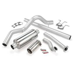 Ford OBS Exhaust Parts - Exhaust Systems - Banks Power - Banks Power Monster Exhaust System, Single Exit, Chrome Tip 46298