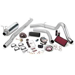 1999-2003 Ford 7.3L Powerstroke Parts - Ford 7.3L Performance Bundles - Banks Power - Banks Power Stinger Bundle, Power System with Single Exit Exhaust, Black Tip 47553-B