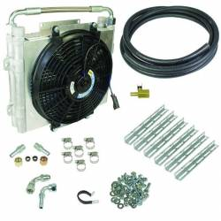 Transmission & Transfer Case - Automatic Transmission Parts - BD Diesel - BD Diesel Xtrude Double Stacked Transmission Cooler Kit - Universial 1/2in Tubing 1030606-DS-12