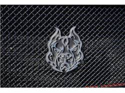 2003-2007 Ford 6.0L Powerstroke Parts - Exteriorfor Ford Powerstoke 6.0L - Sinister Diesel - Sinister Diesel Pitbull Grille Emblem