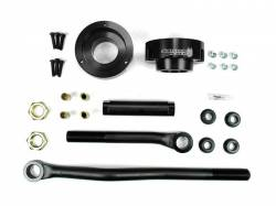 Steering And Suspension - Lift & Leveling Kits - Sinister Diesel - Sinister Diesel Adjustable Track Bar and Leveling Kit for Dodge Cummins 2003-2012 4WD (Black)