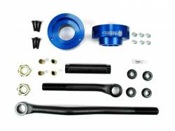 Steering And Suspension - Lift & Leveling Kits - Sinister Diesel - Sinister Diesel Adjustable Track Bar and Leveling Kit for Dodge Cummins 2003-2012 4WD (Blue)