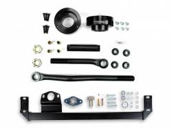 Steering And Suspension - Lift & Leveling Kits - Sinister Diesel - Sinister Diesel Adjustable Track Bar, Steering Box Support, and Leveling Kit for Dodge Cummins 2003-2009 4WD (Black)