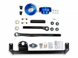 Steering And Suspension - Lift & Leveling Kits - Sinister Diesel - Sinister Diesel Adjustable Track Bar, Steering Box Support, and Leveling Kit for Dodge Cummins 2003-2009 4WD (Blue)