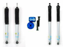 Steering And Suspension - Shocks & Struts - Sinister Diesel - Sinister Diesel Leveling Kit for Ford Powerstroke 2005-2016 Blue (4wd Only) w/ Bilstein 5100 Series Shocks