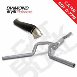 6.6L LLY/LBZ Exhaust Parts - Exhaust Systems - Diamond Eye Performance - Diamond Eye Performance 2006-2007 CHEVY 6.6L LBZ DURAMAX 2500/3500 (ALL CAB AND BED LENGHTS)-4in. ALUMIN K4128A