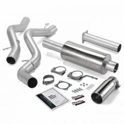 6.6L LLY/LBZ Exhaust Parts - Exhaust Systems - Banks Power - Banks Power Monster Exhaust System, Single Exit, Chrome Round Tip 48940