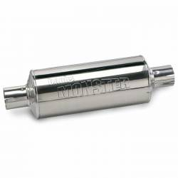 Exhaust - Mufflers - Banks Power - Banks Power Stainless Steel Exhaust Muffler, 4 inch Inlet and Outlet with hardware 53509