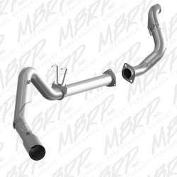 """Ford 6.7LExhaust Parts - Exhaust Systems - MBRP Exhaust - MBRP Exhaust 4"""" Filter Back, Single Side Exit, AL + Down Pipe, S6286AL"""