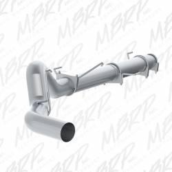 "Exhaust - Exhaust Systems - MBRP Exhaust - MBRP Exhaust 5"" Cat Back, Single Side Exit, No Muffler, AL"