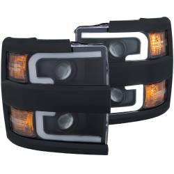 6.6L L5P Lighting - Headlights & Marker Lights - ANZO USA - ANZO USA Projector Headlight Set 111363