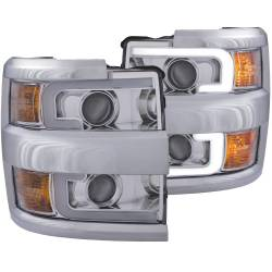6.6L L5P Lighting - Headlights & Marker Lights - ANZO USA - ANZO USA Projector Headlight Set 111360