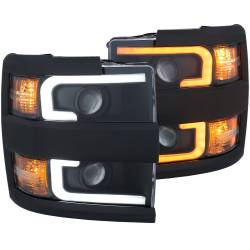 6.6L L5P Lighting - Headlights & Marker Lights - ANZO USA - ANZO USA Projector Headlight Set 111364
