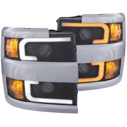 6.6L L5P Lighting - Headlights & Marker Lights - ANZO USA - ANZO USA Projector Headlight Set 111365