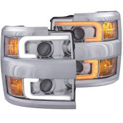 6.6L L5P Lighting - Headlights & Marker Lights - ANZO USA - ANZO USA Projector Headlight Set 111366