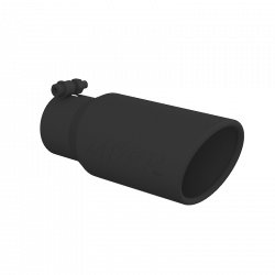 """Exhaust Tips & Stacks - 3.0"""" Inlet Exhaust Tips - MBRP Exhaust - MBRP Exhaust Tip, 4"""" O.D., Angled Rolled End, 3"""" inlet, 10"""" length, Black, T5155BLK"""