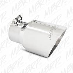 """Exhaust Tips & Stacks - 3.0"""" Inlet Exhaust Tips - MBRP Exhaust - MBRP Exhaust Tip, 4"""" O.D., Dual Wall Angled, 3"""" inlet, 8"""" length T304, T5151"""