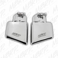 """Exhaust Tips & Stacks - 3.0"""" Inlet Exhaust Tips - MBRP Exhaust - MBRP Exhaust Tip, 4 1/2"""" x 2 3/4""""  Rectangle, Angled Cut, 3"""" O.D. Inlet, Passenger Side, 7"""" Length, T304 Stainless Steel, T5120"""