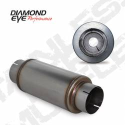 """Ford OBSExhaust Parts - Exhaust Parts - Diamond Eye Performance - Diamond Eye Performance 5"""" PERFORATED PACKED MUFFLER 20"""" OVERAL, 14"""" BODY, 7"""" CASE 409 STAINLESS STEEL 560020"""