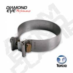 Exhaust - Exhaust Parts - Diamond Eye Performance - Diamond Eye Performance - 3in. TORCA BAND CLAMP - 304 STAINLESS STEEL - BC300S304