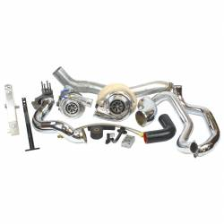 2006–2007 GM 6.6L LLY/LBZ Duramax Performance Parts - 6.6L LLY/LBZ Turbochargers & Components - Industrial Injection - LBZ Duramax Race Compound Turbo Kit (2006-2007)