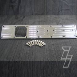 1989-1993 Dodge 5.9L 12V Cummins - Air Intakes & Accessories for 1st Gen Dodge Ram 12V - Industrial Injection - Industrial Injection 5.9L Billet Intake Plate Polished PDM 89-98.5 Cummins