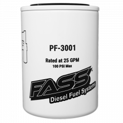 Fuel System & Components - Fuel System Parts - FASS - Fass Fuel Filter PF-3001 (Replaces FF-3003)