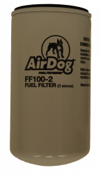 6.6L LML Fuel System & Components - Fuel Supply Parts - PureFlow AirDog - AirDog Fuel Filter, 2 Micron FF100-2