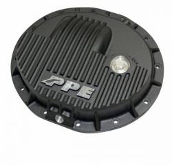 Axles & Components - Differential Covers - PPE Diesel - Heavy Duty Cast Aluminum Front Differential Cover 15-17 Ram 2500/3500 HD Black PPE Diesel