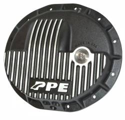 Axles & Components - Differential Covers - PPE Diesel - Heavy Duty Cast Aluminum Front Differential Cover 15-17 Ram 2500/3500 HD Brushed PPE Diesel