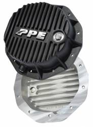 Axles & Components - Differential Covers - PPE Diesel - Heavy Duty Deep Aluminum Rear Differential Cover GM 1500 Black PPE Diesel