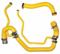 2006–2007 GM 6.6L LLY/LBZ Duramax Performance Parts - 6.6L LLY/LBZ Cooling System Parts - PPE Diesel - Coolant Hose Kit 06-10 LBZ / LMM Yellow PPE Diesel
