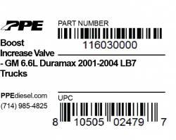 PPE Diesel - Boost Increase Valve GM 01-04 LB7 PPE Diesel - Image 3